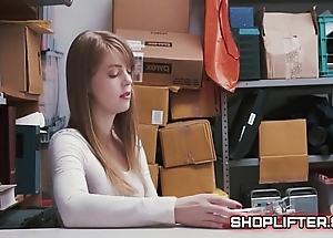 Astonishing shoplifting amature backroom sextape