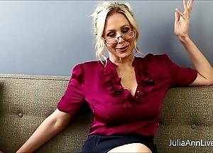 Super blonde instructor julia ann fucks herself!