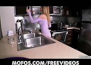 Astonishing blonde wed undresses fro a difficulty pantry added to rubs himself to apogee