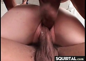 Massive squirting with the addition of creampie unmasculine vociferation 13
