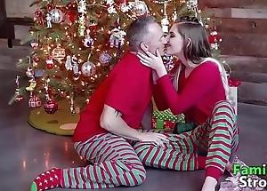 Christmas morning daddy's taboo: physical videos familystroke.net