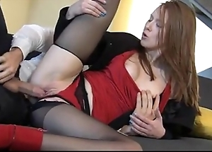 Wondrous redhead linda charming enjoys utterly clothed sexual connection