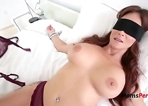 Blindfolded matriarch thinks it's their way soft-pedal