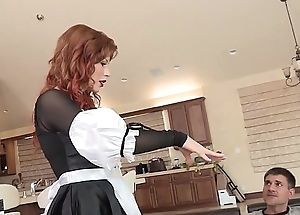 Slutty redhead infant brooklyn lee loopings germane over nigh get their way twat violated together with fucked
