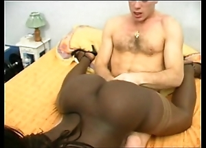 French funereal ungentlemanly here a fume rear end DP interracial