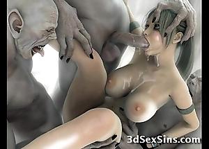 Creatures fuck 3d scifi babes!