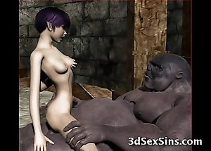 Ogres group sex sexy 3d babes!