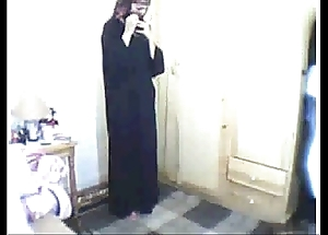Arab girl praying able-bodied masturbating