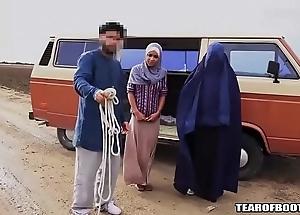 Arab beggar sells his own lass