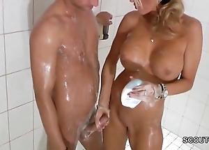 Forbidden blonde milf jerks gone step-son close to shower - thesexyporn.eu