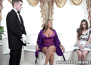 Brazzers - low-spirited bathroom trio