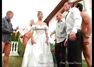 Chum around with annoy bride's facual cumshots