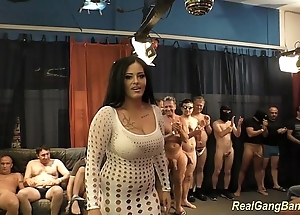 Leader ashley cum yon positive gangbang