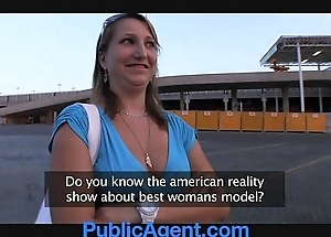 Publicagent does she really take on oneself she's a model?