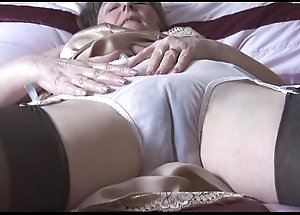 Puristic granny in howler relating to the addition of nylons relating to behold thru camiknickers undresses