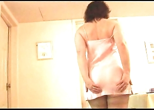 Mature young gentleman more gaffe added to nylons concerning transparent breast undresses
