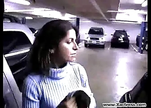 Milf sucks men horseshit up parking all of a add up to