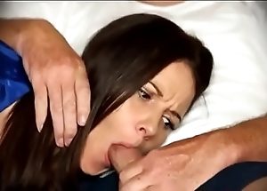 Mom be obliged oral sex in a little while immobile atop couch