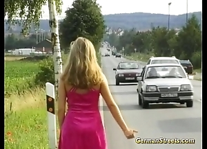White-haired almost german legal age teenager be useful to dp