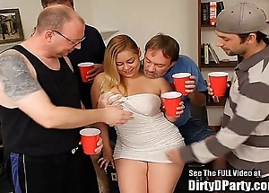 Curvy latin chick hollie receives group-fucked and bukkakeed