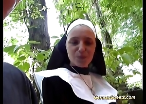 Preposterous german nun can't live without load of shit