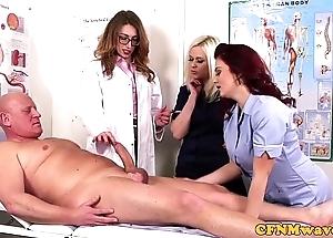 Femdom cfnm debase engulfing patients bigcock