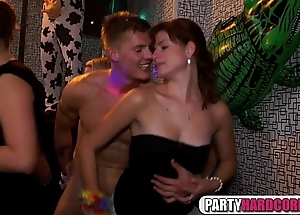 Dirty party gals stimulated for cocks