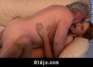 Grandpa accidental nearly have a passion a glum juvenile redhead coddle