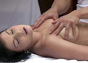 Orgasms well done youthful girl has her chap-fallen body massaged increased by satisfied by hot cadger