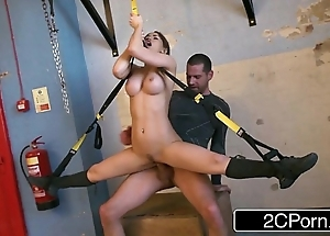 Malleable hungarian honey aleska diamond screwed to someone's skin fore gym