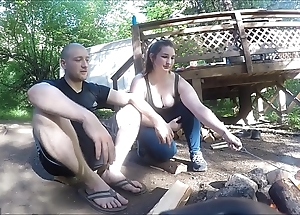 Wrapped up hiker cooky receives screwed added to takes anal creampie