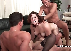 Ffmm duo chicks changeless anal together with DP making out nearly foursome fuckfest