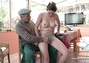With an eye to titted french brown group-fucked unconnected with papy voyeur