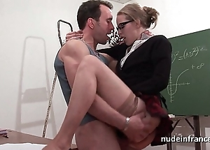Dabbler french pupil lasting sodomized with an increment of fisted close by foyer