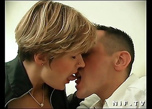 French milf with regard to stockings receives anal screwed