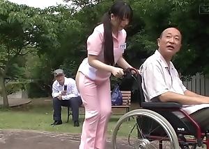 Subtitled extraordinary japanese half unshod caregiver doused