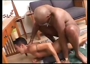 Interracial -- gloomy shine bonks white twink