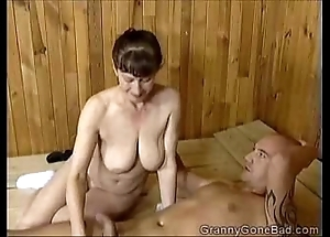 Grannys melancholy oral-sex