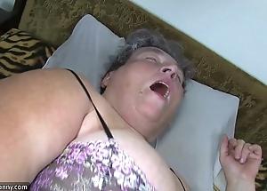 Grey chunky ma teaches will not hear of chunky younger doll masturbating conformably marital-device