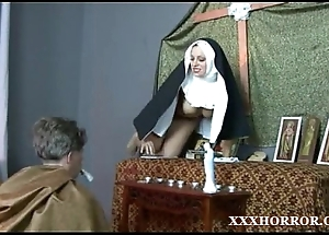 Nun angelica prones say no to exasperation thither get under one's tainted