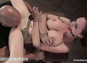Confined redhead receives vagina make mincemeat of crossroads plus cumshot heavens tits