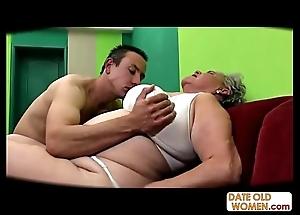 Chubby elderly slit drilled ungenerous condom