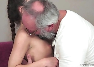 Teenie anita bellini receives screwed hard by a grandpa