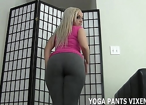Cover up your bushwa against my jam-packed with yoga panties joi